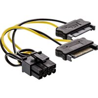 InLine® Stromadapter intern, 2x SATA zu 8pol für PCIe (PCI-Express) Grafikkarten