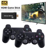 USB Wireless Retro-Spielekonsole(ikl.10000Spiele),4K HDMI Mini Game-Stick mit 2 Kabellos Controller(64GB)