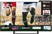Hisense 65AE7200F 164cm (65 Zoll) Fernseher (4K Ultra HD, HDR, Triple Tuner DVB-C/ S/ S2/ T/ T2, Smart-TV, Mittelstandfuß, Frameless, Bluetooth, Alexa)