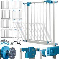 Kidiz® Türschutzgitter ✓ Absperrgitter ✓ Treppengitter ✓ Kindergitter | Gitter Haustier | , Variante :74-87 cm GRAU