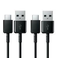 2er Set Original Samsung USB C Kabel | Ladekabel Typ C Standard | 1,2m | Schwarz | EP-DG950CBE | A51 A71 A80 A90 S8 S8+ S9 S10 S20