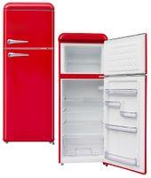 Wolkenstein WGK218RT FR Kühlgefrierkombination Rot Retro Kühlschrank