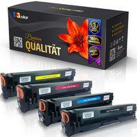 4x Kompatible Tonerkartuschen für HP Color LaserJet Pro MFP M 281 fdw Color LaserJet Pro MFP M 281 fw CF540X CF541X CF543X CF542X Black Cyan Magenta Yellow - Office Print Serie