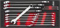 VIGOR Ring-Maulschlüssel Satz ∙ V6723 ∙ Außen-Sechskant Profil, Außen-Doppel-Sechskant Profil ∙ 6 –