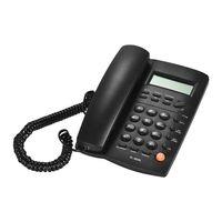 Desktop-schnurgebundenes Telefon mit LCD-Display Anrufer-ID-Lautstaerke Einstellbarer Taschenrechner Wecker fuer Haus Home Call Center Office Company Hotel