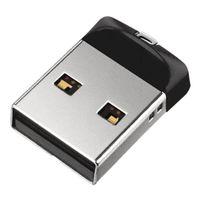 sandisk Cruzer Fit USB 2.0 16GB, Farbe:Schwarz