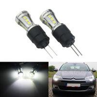 2x HP24W HPY24W G4 Birne 18 SMD LED 7.5W Tagfahrlicht Lampe DRL für Peugeot 3008 5008 Citroen C5