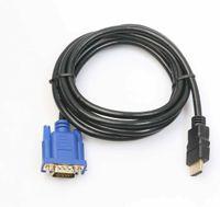 3M HDMI auf zu VGA AV Video Kabel Adapter Laptop HD TV 1080P Monitor Projektor