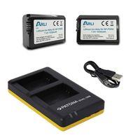 ARLI SET: 2x Akku für Sony NP-FW50 NPFW50 Alpha 7 NEX 3 5 A33 A55 5000 6000 + Dual LCD USB Ladegerät