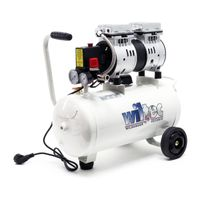 Leiser Druckluftkompressor mit 24L Tank, 1PS, 98l/m und 750W