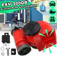 24V 139-300dB Elektrische Pumpe Luft Laut Hupe Kompakt Zweifarbig Auto Lkw U