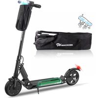 Evercross-E1 Elektroscooter mit Tasche ,Bis 30 km/h E Roller Mit Vorderen und Hinteren Rückleuchten | mit Tasche|7.5Ah Akku| 350 Watt Motor City Roller Schwarz