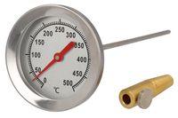 Lantelme 500 °C Backofen Thermometer mit Messing Konus zur Befestigung