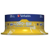 Verbatim DVD+RW Rohlinge 25er Spindel