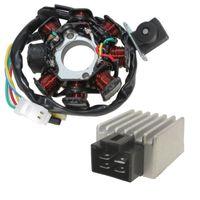 Lichtmaschine und Spannungsregler für 4 Takt GY6 QMA QMB Baotian, Rex
