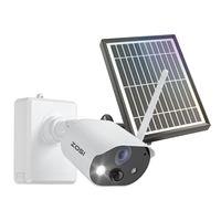 ZOSI 1080P HD Außen 7800mAh Akku Überwachungskamera mit Solarpanel, PIR Bewegungsalarm, Flutlicht & Sirene Alarm