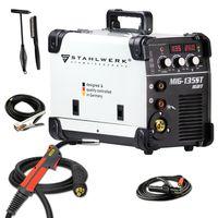 STAHLWERK MIG 135 ST IGBT - MIG MAG Schutzgas Schweißgerät mit 135 Ampere, FLUX Fülldraht geeignet, mit MMA E-Hand, weiß