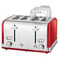 ProfiCook 4-Scheiben Toaster PC-TA 1194 rot-edelstahl