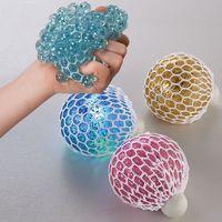 Quetschbälle mit Licht, 12-tlg. Glitzer - mit LED-Wechsellicht - Kunststoff