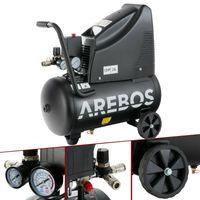 Arebos 8bar Druckluft Kompressor ölfrei 24L 1100W inkl. 14-Teile Druckluft-Set - direkt vom Hersteller