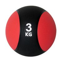 Unibest Medizinball Gymnastikball Gewicht 3kg rot