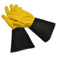 WAGNER Gold Leaf Gloves - TOUGH TOUCH - Damen - Gartenhandschuhe / Rosenhandschuhe der Extraklasse / Hirschleder und Rindsleder / stachelresistente Stulpe / HTC Auszeichung - 25305100