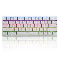 61 Tasten Mechanische Gaming Tastatur 60% NKRO bluetooth Type-C RGB Outemu Switch Tastatur - Schwarz Switch