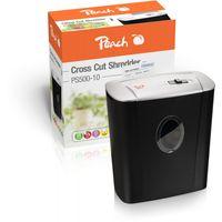 Peach PS500-10 - Kreuzschreddern - 22 cm - 4 x 52 mm - 11 l - 80 Blätter - 72 dB