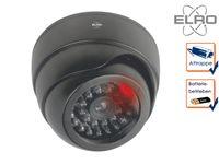 Dome Kamera Attrappe schwarz rote LED Blitzlicht - Fake Dummy Überwachungskamera