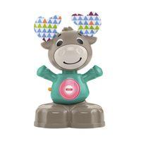 Fisher-Price BlinkiLinkis Elch, Baby-Spielzeug mit Musik, Lernspielzeug