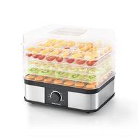 [neu.haus]® Dörrgerät - mit 5 Etagen - Dörrautomat Obst und Gemüse Trockner Food Dryer Eckig 250W