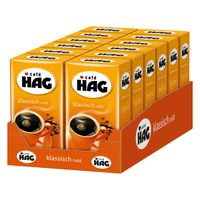 CAFÉ HAG Klassisch mild Filterkaffee entkoffeiniert 12 x 500 g Kaffee gemahlen