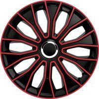 4 STK 15 Zoll Voltec Pro black/red schwarz PETEX Radkappen Radzierblenden Satz PKW Auto