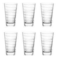 LEONARDO 019450 Vario Struttura Longdrinkbecher, Glas, 280 ml, klar (6 Stück)