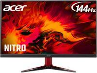 Acer Nitro VG271 P / 1920x1080 / IPS / 1 ms / 144HZ / 2x HDMI / Display Port / HDR 400 / FreeSync / Lautsprecher, Farbe:Schwarz/Rot