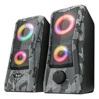Trust GXT 606 Jaw RGB 2.0 Speaker Set, Farbe:Camouflage Grau