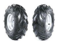 2er Set Komplettrad Felge Reifen 3-Loch 16x8-7 silber rechts/links Quad ATV Kinderquad