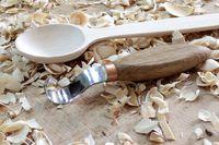 Schnitzmesser,Werkzeug Kerbschnitzmesser Schälmesser mit  Löffel + Haken Messer, Holzschnitzerei Kit für Löffel Schüssel Cup Kuksa Holzbearbeitung