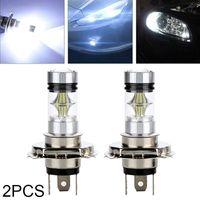 2 Stück 12V H4 Xenon Weiß LED-Lampe 6000K 100W 20SMD Superheller Auto Nebelscheinwerfer