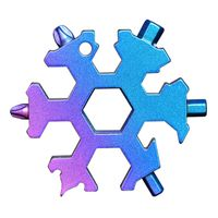 Edelstahl Schraubwerkzeug Schneeflocke Schlüsselanhänger Multifunktion Werkzeug Außenbereich Werkzeugkarte Bunt