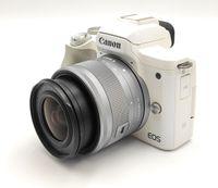 Canon EOS M50 spiegellose Systemkamera 7,5cm 3 Zoll Touchscreen 24,1 MP Weiß