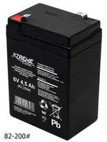 Gel Akku AGM Batterie 6V 4,5Ah 4,5 Ah Gelakku Ersatzakku XTREME Wartungsfrei