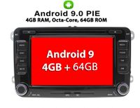 Android 9   AUTORADIO für VW T5 MP3 Seat Skoda Passat Golf Bluetooth NAVIGATION DVD GPS SD Radio