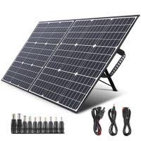 SWAREY 100W Solar Ladegerät Solar Panel Ladegerät Stromversorgung Akkuladegerät Power Bank mit Typ-C-, DC-, USB-QC-3.0- für Smartphones, Laptops, Autobatterien, Kraftstationen