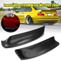 2X CSL Stil Carbon Stoßstange Frontlippe Flaps Spoiler Splitter für BMW E46 M3