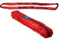 Rundschlinge 5000kg Tragkraft, 20m Umfang, endlos mit Polyesterkern, Hebegurt Hebeband, Rot