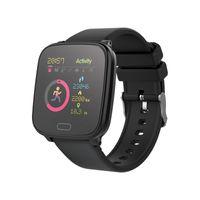 Forever GO JW-100 Smartwatch Armbanduhr Kinder Schritt, Zeit, Datum, Musik-Management, Alarm, Schwarz