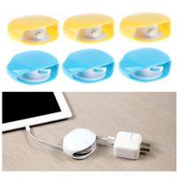 6er Set Automatischer Kabelaufroller Kabelaufwickler Kabelaufwicklung für USB-Kabel, Kopfhörerkabel, Datenkabel, Kabel zum Verknoten