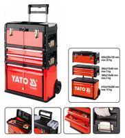 YATO Werkzeugtrolley mit 3 Schubladen 52x32x72 cm