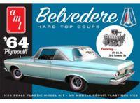 Plymouth Belvedere Hard Top Coupe 1964 Kunststoffbausatz Modellauto 1:25 AMT